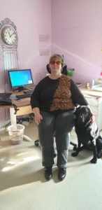 Anne_Laure et son chien guide Milou